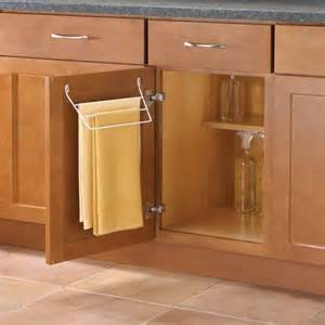 bathroom cabinet with towel rack knape vogt door mount towel rack for kitchen or bathroom