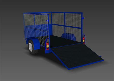 cage trailer trailer plans