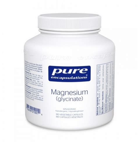 Magnesium Glycinate As A Detox by Encapsulations Vitamins In Canada Vitepro Ca