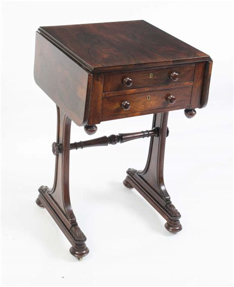 Antique Side Table by Antique William Iv Rosewood Side Table C 1840