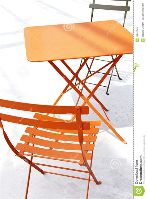 Orange Patio by Orange Patio Chair And Table With Shadow Royalty Free