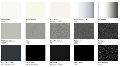 anthracite color chart colours zehnder uk