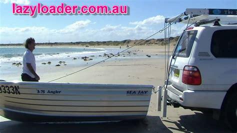 one man boat loader the lazy loader boat loader youtube