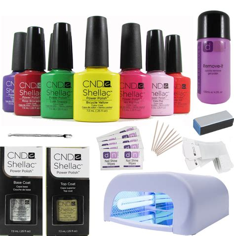 Shellac Starter Kit With L by Professional Cnd Shellac Starter Kit Choice Of Up To 10