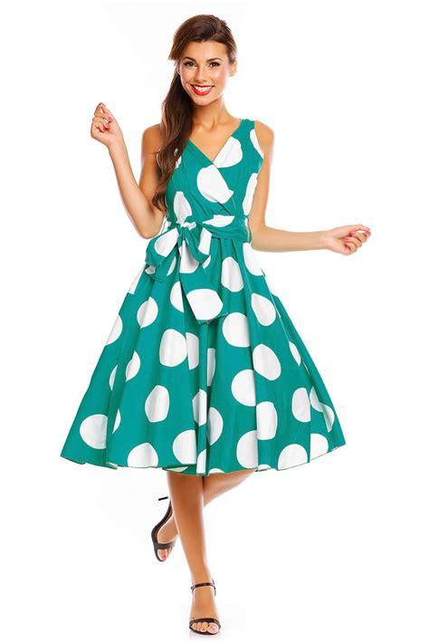50s swing ladies retro vintage 50s swing big polka dot rockabilly