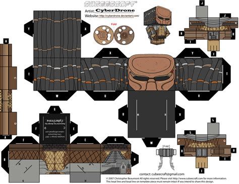 City Papercraft - cubee city predator masked by cyberdrone deviantart
