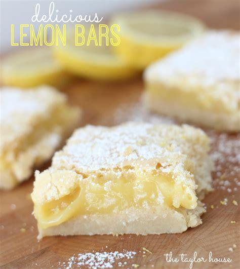 Lemon Bars Recipe - Page 2 of 2   The Taylor House Lemon Dessert Bars