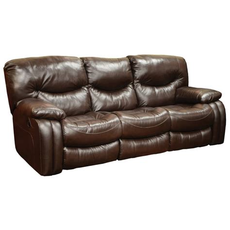 catnapper reclining sofa catnapper arlington leather reclining sofa in mahogany