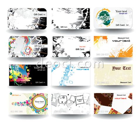 Adobe Illustrator Postcard Template 12 vector fashion cards background design template eps and