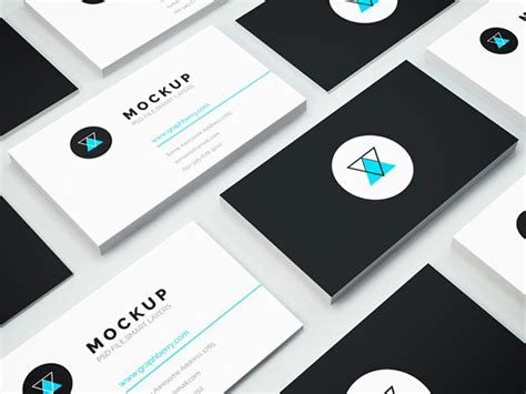 business card template psd isometric 15 awesome free psd business card mockup templates web