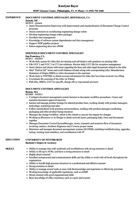 document controller resume sle production specialist sle resume sound engineer