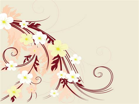 Flower Artistic Drawings With Hair Powerpoint Templates Beauty Fashion Free Ppt Artistic Powerpoint Templates