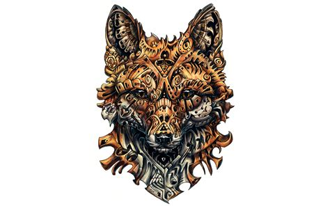 wallpaper fox artwork tattoo  creative graphics