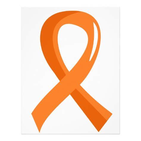 leukemia color ribbon leukemia orange ribbon 3 personalized flyer zazzle