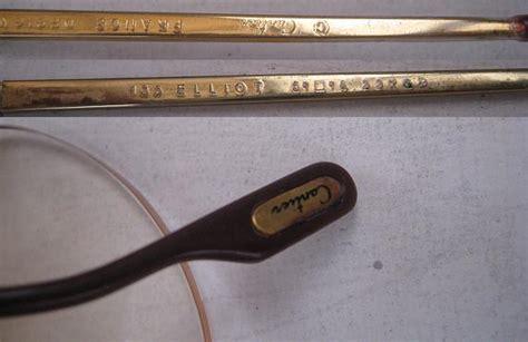 Kacamata Unik Qw08 Gold Kacamata toko antiek retro vintage glasses gold quot cartier elliot quot design kacamata emas