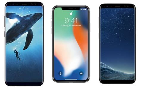 iphone x vs samsung galaxy s9 vs samsung galaxy s9 plus price in india specifications and