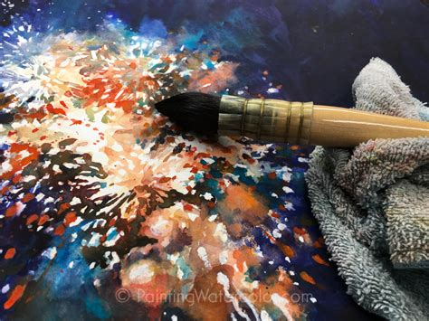 watercolor explosion tutorial fireworks painting tutorial watercolor painting tutorial