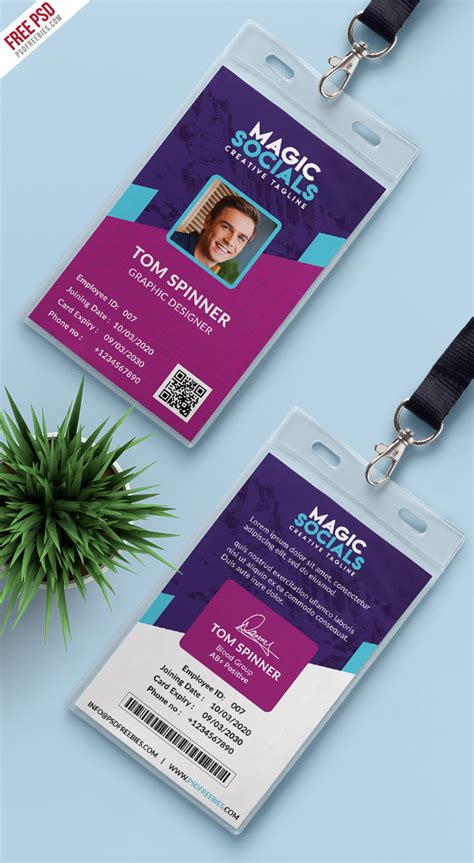 card free office identity card free psd psdfreebies