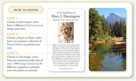 how to make prayer cards how to order memorial prayer cards