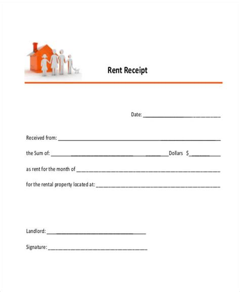 Rent Receipt Template Uk Free by 23 Receipt Templates Free Premium Templates