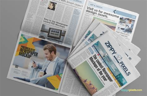 Free Newspaper Ad Template by The Best Free Psd Newspaper Mockups Hipsthetic