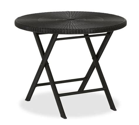 bistro folding accent table palmetto all weather wicker folding bistro table