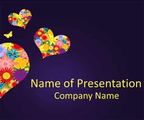 fancy powerpoint templates fancy hearts powerpoint template templateswise