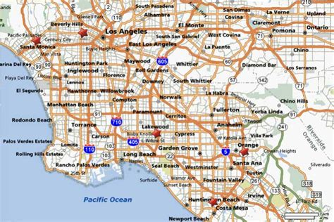 map of city tourist maps los angeles city map