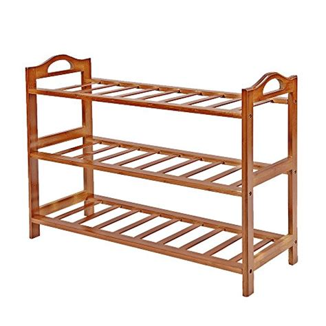 save 39 fibevon bamboo shoe rack 3 tier entryway shoe