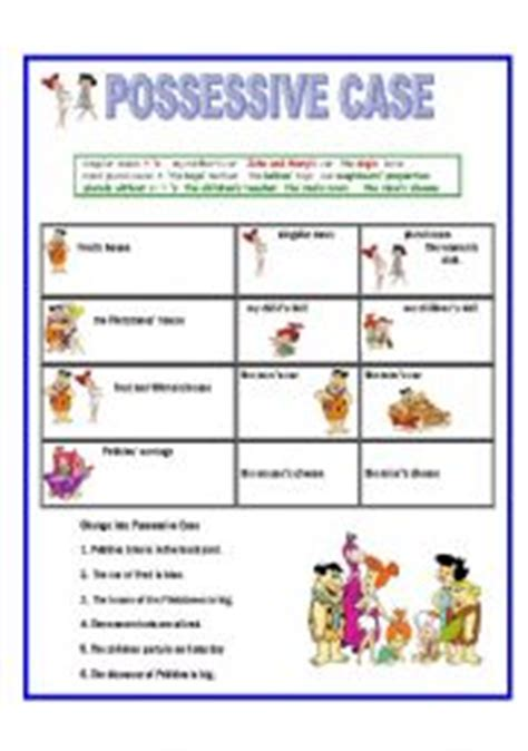 genitive case english exercises english worksheets possessive case