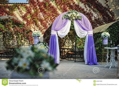 Wedding Arch Purple by Purple White Wedding Arch Otdoor Stock Image Image 62931993