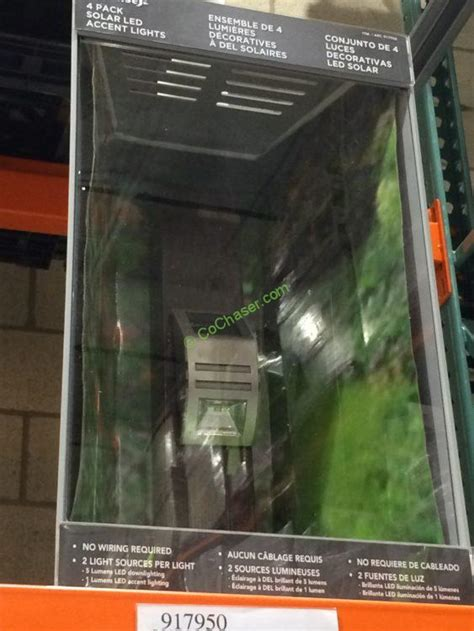 solar fence post lights costco paradise solar led accent lights 4 pk costcochaser