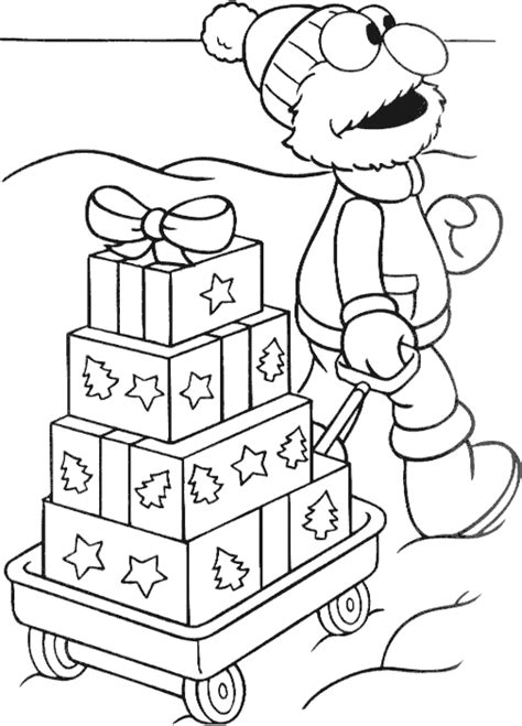 christmas elmo coloring page coloring com