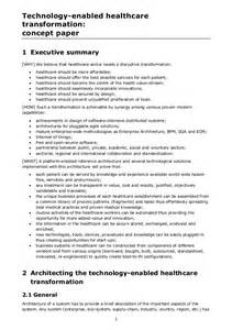Concept Essay by Technology Enabled Healthcare Transformation Concept Paper