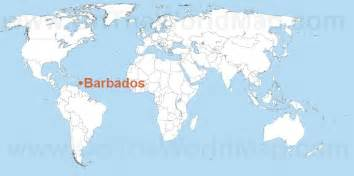 Barbados World Map by Barbados On The World Map Barbados On The Caribbean Map