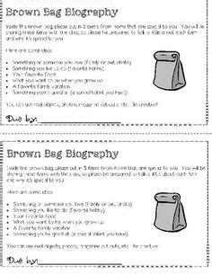 Brown Bag Autobiography {FREEBIE!} - A Getting to Know You