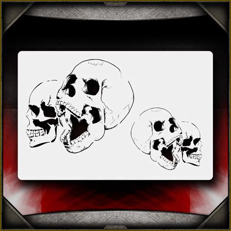airbrush stencil template quot skull 12 quot airbrush stencil template airsick ebay