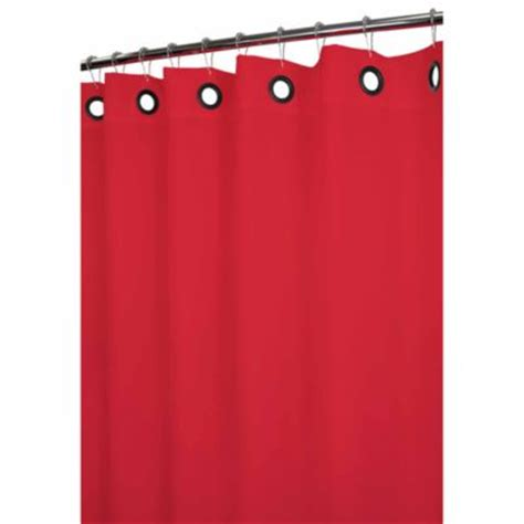 red shower curtain liner park b smith 174 dorset red large grommet 72 inch x 72 inch