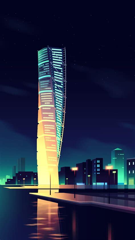 animated night city wallpaper iphone wallpaper iphone