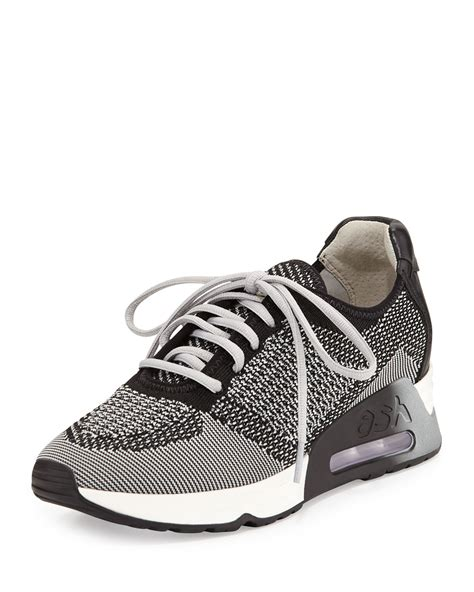 Knit Sneakers lyst ash lucky leather trim knit sneaker in gray