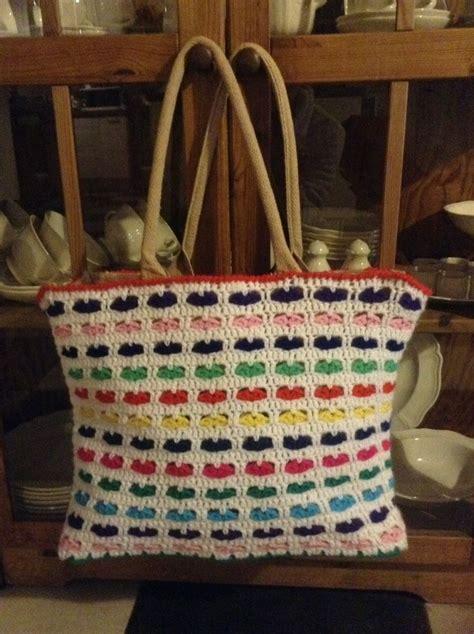Tote Bag Tas Tangan Bag 2 nog een ah tas met hartjes gepimpt haken en breien crocheted bags and crochet