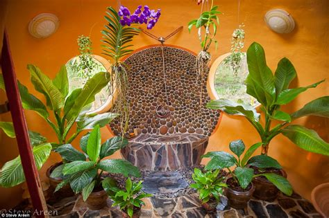 tropical home decor elements with relaxing bathtub with home sweet dome man builds his own dream mini home in