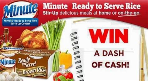 All Recipes Sweepstakes - minute ready to serve rice stir it up recipe contest sweepstakesbible