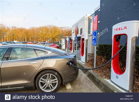 Tesla Electric Charging Stations Tesla Motors Electric Car Charging Station In Eindhoven