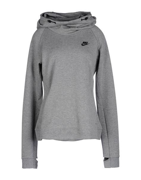 light grey nike hoodie nike sweatshirt in gray light grey lyst