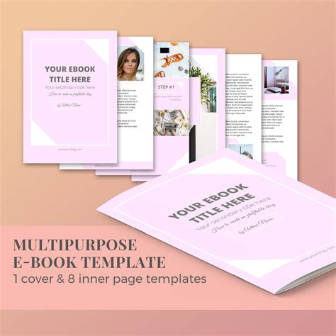 Ebook Template 10 Pages Magazine Template Word Template Ebook Template For Docs