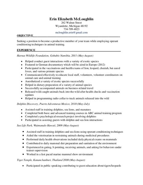 Veterinary Technician Resume Objective Examples   Augustais