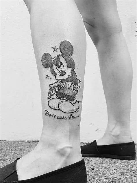 65 classic mickey and minnie mouse tattoo ideas