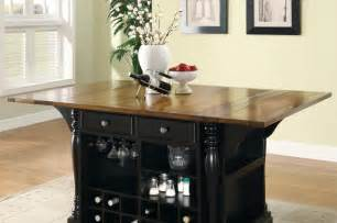 Kitchen Island With Wine Storage Cherry Black Wood Kitchen Island Cabinet Wine Rack Storage