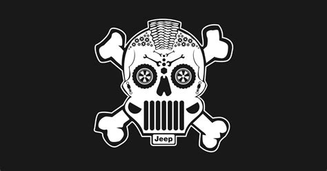 jeep adventure logo sugar skull jeep design offroad t shirt teepublic